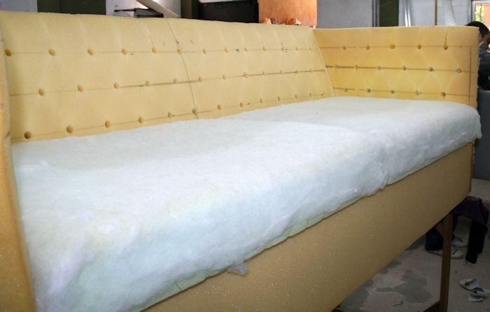 desarme completo sin dejar tela debajo con almohadones preparados con guata